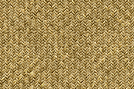 Computer generated graphic design of realistic bamboo basket weave pattern