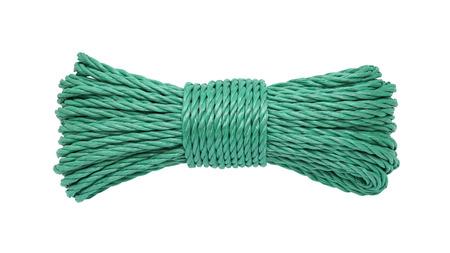 bunched: Corda verde raggruppato isolato su sfondo bianco