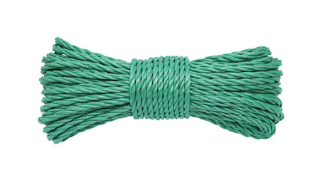 bunched: Green rope bunched isolated on white background