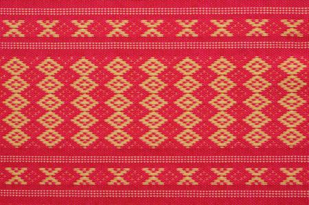 Thai pattern style weaved on textile Stock Photo