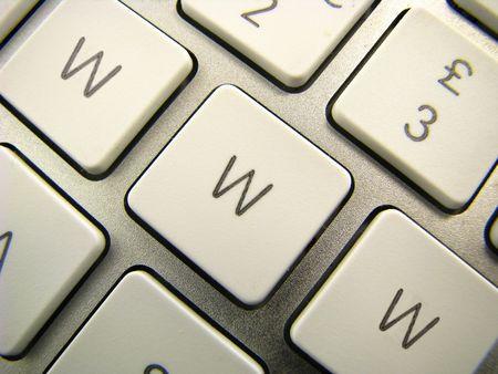worldwideweb: A keyboard with three W keys, representing the World-Wide-Web