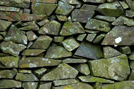 drystone: A background of a Scottish dry-stone wall