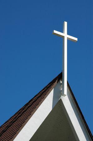 Church and cross photo