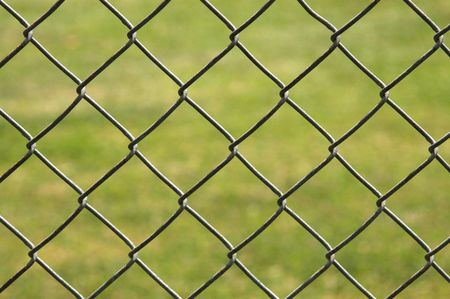 Background image of a metal link fence Stock Photo - 6599173