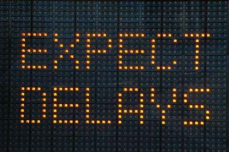 Stedelijke verkeers congestie teken zeggen verwachten vertragingen