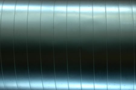 Steel Pipe: Abstract Background Texture of a Shiny Air Vent Pipe