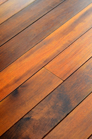 Abstract Background Texture of Wooden Floor Boards With Shallow Depth of Focus Stock Photo - 8955791