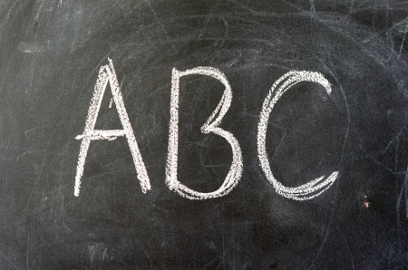 Education Image Of ABC On A School Blackboard Stock Photo