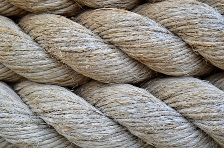 Abstract Background Texture Of Thick, Strong Rope Stock Photo