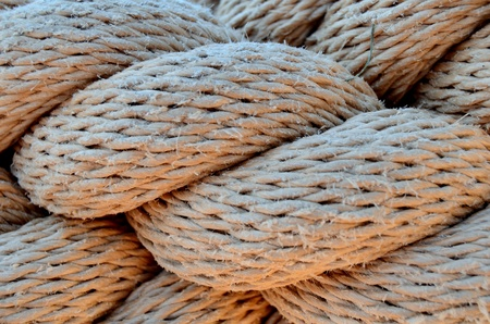 A Background Texture Of Thick Twisted Rope