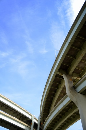A Grimy Freeway Overpass In A City With Copy Space photo
