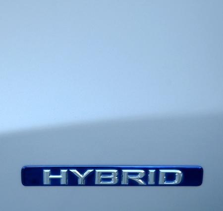 hybrid car: Closeup Of A An Environmental Hybrid Car Stock Photo