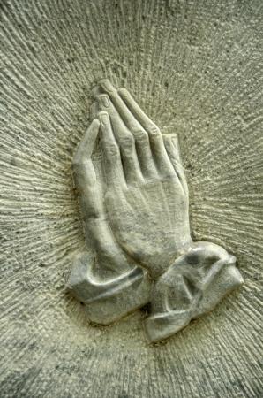 manos orando: Imagen cristiana de Jesús