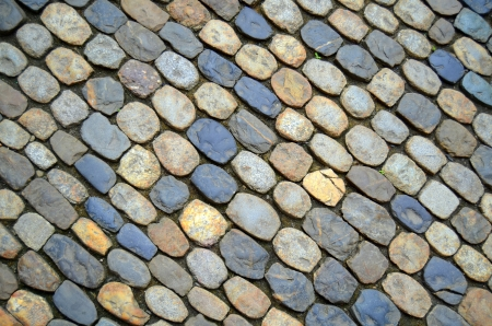 A Background Texture Of A Cobblestone Street In Europe Stock Photo - 14713997