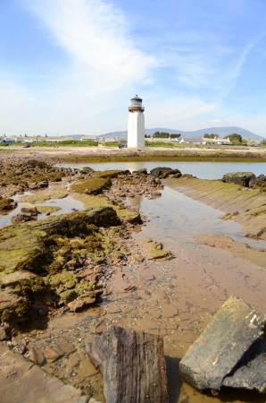 dumfries and galloway: The Decommissioned Lighthouse At Southerness In Scotland