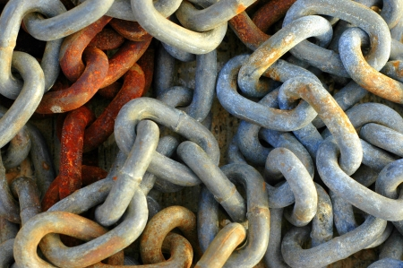 corrosion: Abstract Background Texture Of Rusty Old Chains Stock Photo