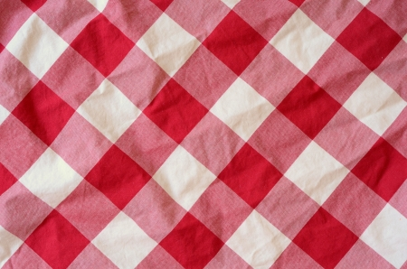 Abstract Background Texture Of A Red And White Chequered Picnic Blanket photo