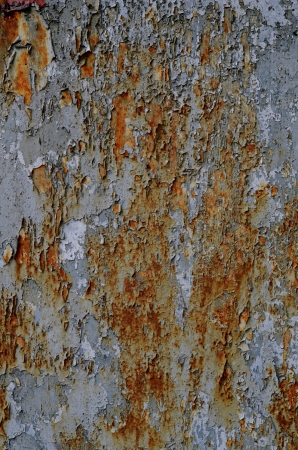 Grungy Peeling Paint And Rust Background Texture photo