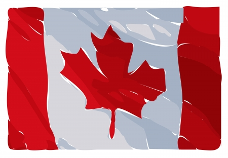 Illustration Raster Of An Artistic Interpretation Of The Canadian Flag illustration