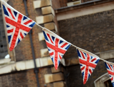 union jack flag: A Patriotic Image Of British Bunting At A National Event