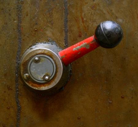 maquinaria pesada: Una palanca sucio Industrial Maquinaria Pesada En algunos Foto de archivo
