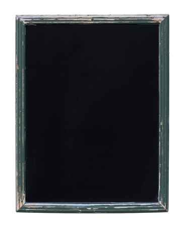 An Isolated Rustic Framed Empty Blackboard For Your Text
