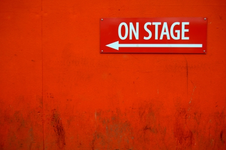 thespian: Theatre Sign Stock Photo