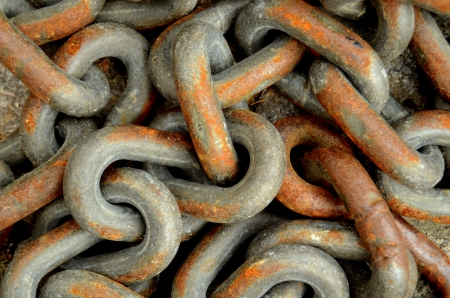 An Abstract Background Of Grungy Rusty Chains photo