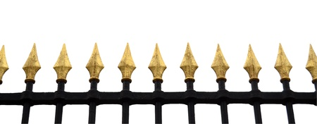 Isolation Of Gold Fence With Clipping Path Stock Photo - 19791189