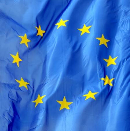 european economic community: A Close Up Of A Flag Of Europe In The Wind