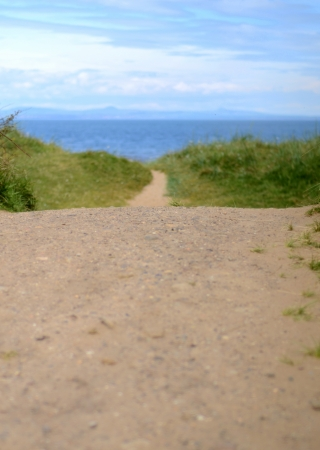 Vacation Image Of A Trail Down To A Beach With Copy Space Stock Photo - 20558114