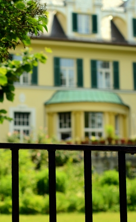 Conceptual Image Of Protective Fence Around An Exclusive Luxury Home Stock Photo - 20762075