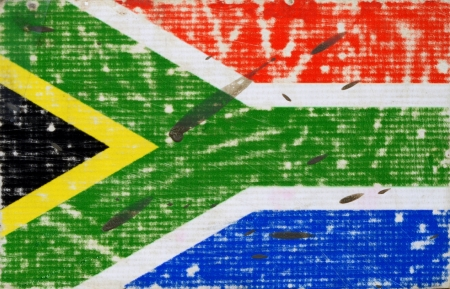Grungy Flag Of South Africa Splattered With Dirt photo