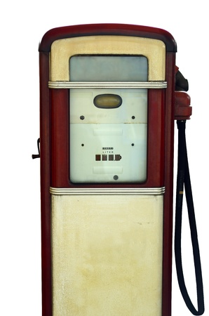 Isolation Of A Vintage Gas Station Pump photo