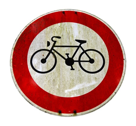 Grungy Bike Lane Sign Stock Photo - 20987847