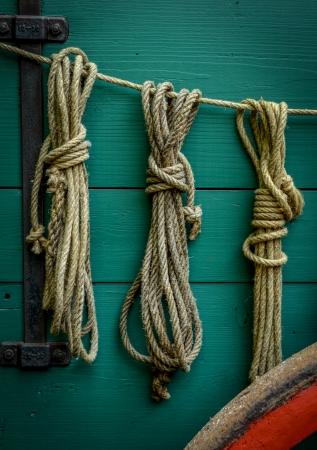 Wild West Scene Of Ropes On The Side Of An Old Wagon