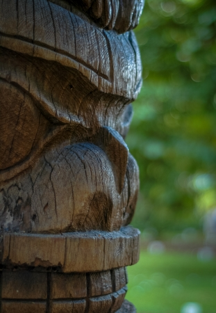 the totem pole: Profile Of Totem Pole Face With Room For Text