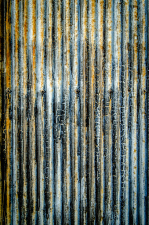 Abstract Background Texture Of Corrugated Iron With Peeling Paint