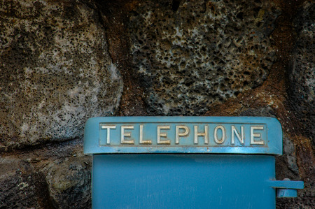 Detail Of A Retro Vintage Public Telephone photo