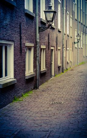 backstreet: Retro Style Backstreet Or Alleyway In A European City Stock Photo