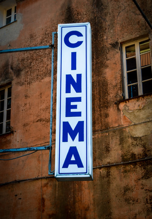 backstreet: Grungy Retro Sign For A Backstreet Cinema Or Theatre In Italy