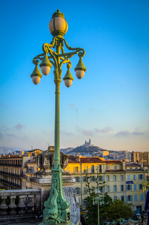 Sunset Over Marseille, France With Notre-Dame De La Garde In The Distance photo