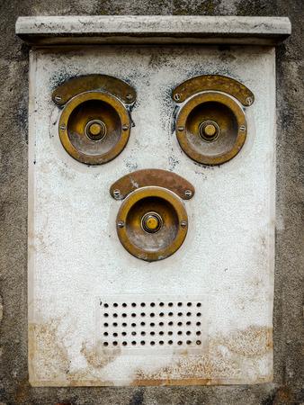 Vintage Apartment Intercom Door Bell Buzzers Stock Photo, Picture ...