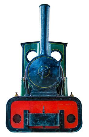 thomas: Isolation Of Small Vintage Steam Train Engine Stock Photo