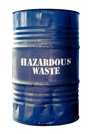 riesgo quimico: Sucio aislado Tambor o en barriles de residuos peligrosos