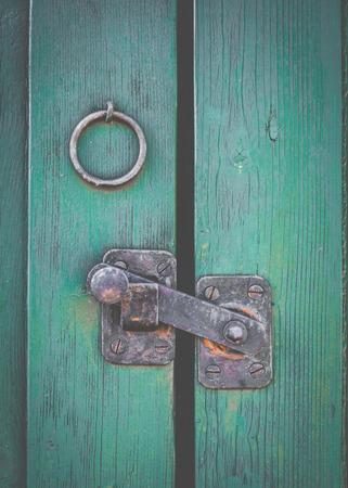 ramshackle: Retro Filtered Photo Of A Rustic Door Latch