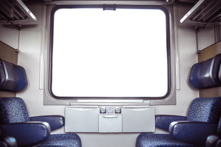 Train Compartment With Isolated Window For Your Image Or Text