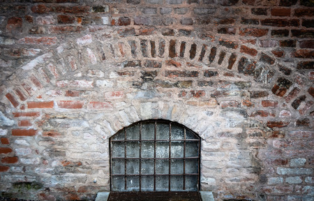 dungeon: Bars On A Window Of A Medieval Dungeon