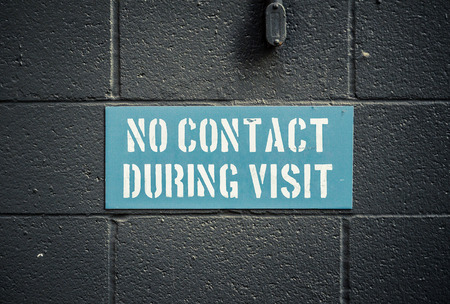 visitation: No Contact During Visit Sign In A Prison Or Jail