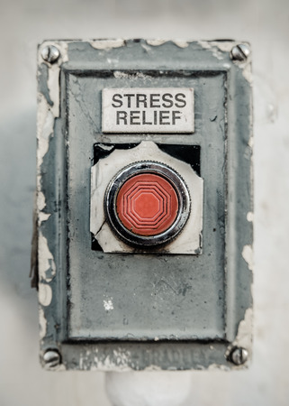 Grungy Industrial Style Stress Relief Button